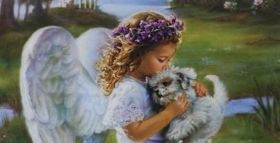 天使と子犬 小