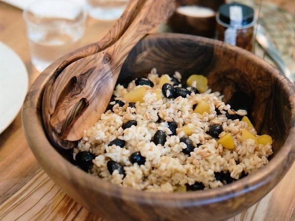 穀物と栗と豆