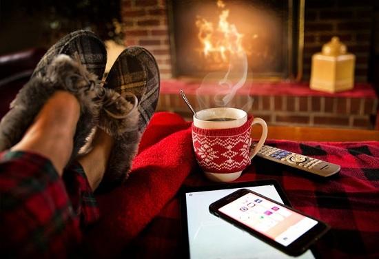 暖かい部屋の写真