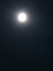 台風一過の月