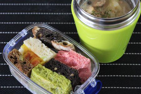 鮭とじゃが芋のスープ弁当