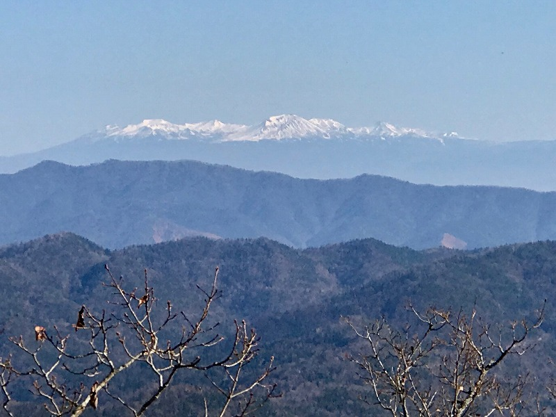山頂からの大雪