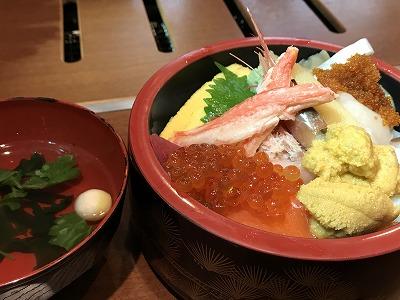 利尻最終日海鮮丼