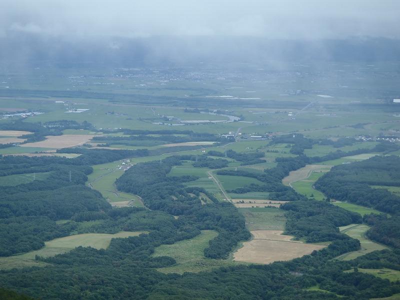 樺戸山石狩川の三日月湖