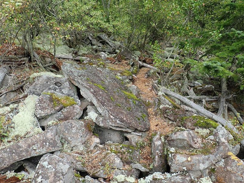 中山風穴岩場