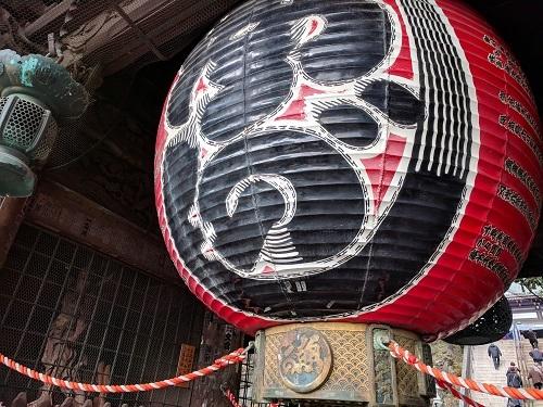 成田山新勝寺で長女の受験合格祈願。