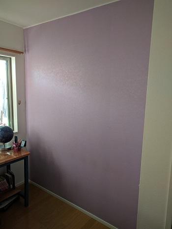 子供部屋の間仕切り壁作成①~まずは壁紙塗装から