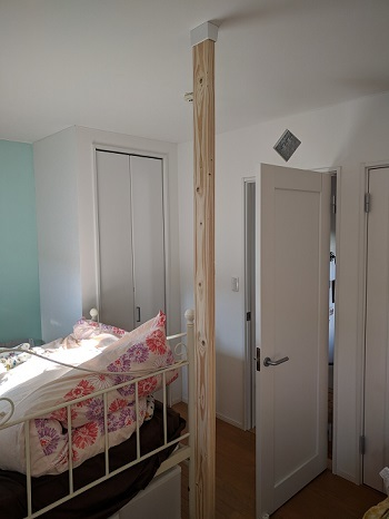 子供部屋の間仕切り壁作成③~ディアウォールを使用した壁のDIY