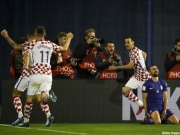 大勝して喜ぶクロアチア