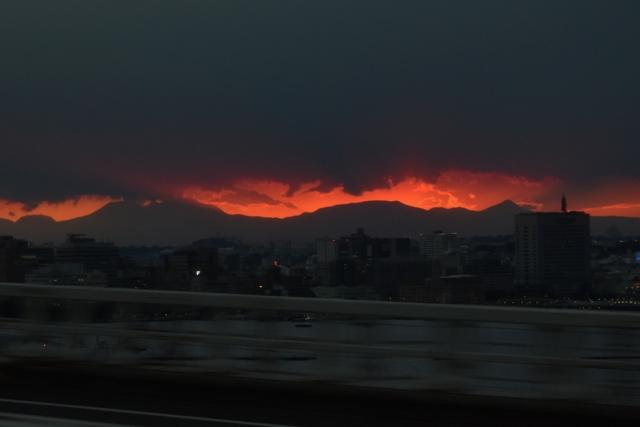 真っ赤な夕陽201711040000-1