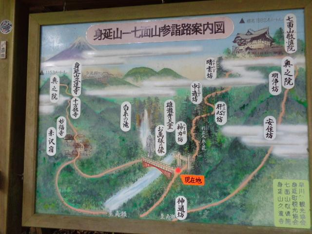 七面山案内図
