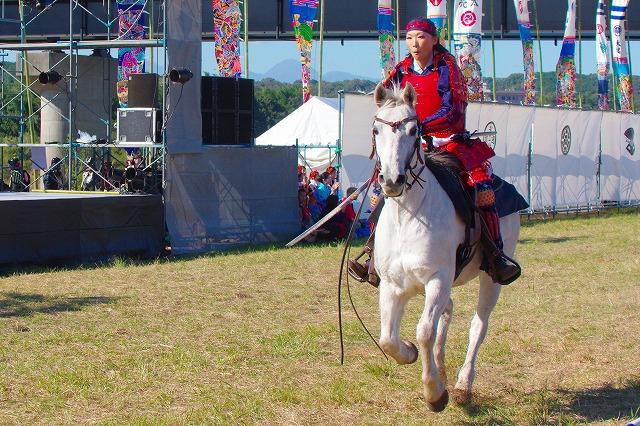 大野川合戦祭り 騎馬疾走 順光