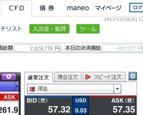 原油損 -801,577円
