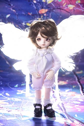 BJD CROBI-DOLL, E Line, Toriのロビン。天使の翼をつけて。