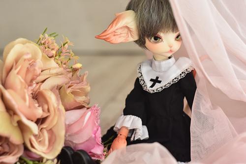 PARABOXのシスター服に身を包んだ、DOLLZONE・Miss Kittyのジーナ。スタジオcoucouさんでの撮影会にて。