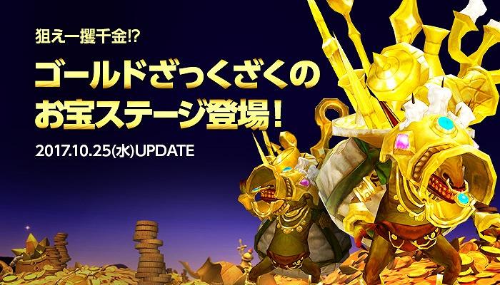 基本プレイ無料の爽快アクションRPG『ドラゴンネストR』 ゴールド大量GETの新ダンジョン「熱狂!ゴールデンゴブリン}を実装したよ~!!