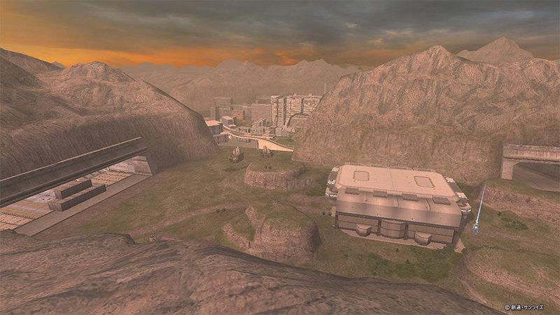 基本プレイ無料の100人同時対戦が楽しめるオンラインゲーム『機動戦士ガンダムオンライン』 大規模フィールド「鉱山都市-都市電撃戦-」の調整を実施したよ~!!