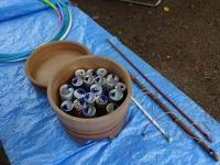 空き缶つりコーナー