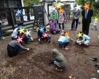 地面を掘りはじめました!