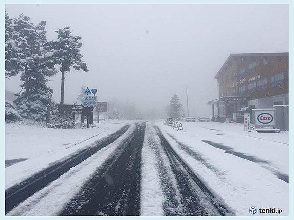 秋 積雪 冷え込み