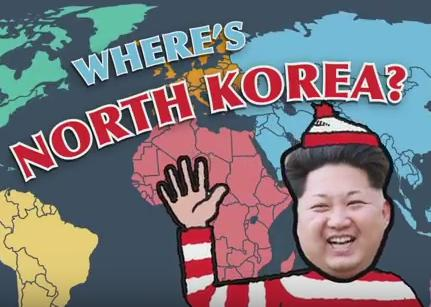 アメリカ 北朝鮮 地図 地理
