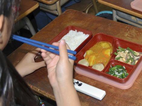 大磯町立中学校 学校給食 給食 仕出し弁当 異物