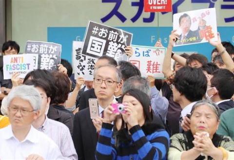 朝日新聞 選挙 演説 ヤジ 選挙妨害 しばき隊 野間易通