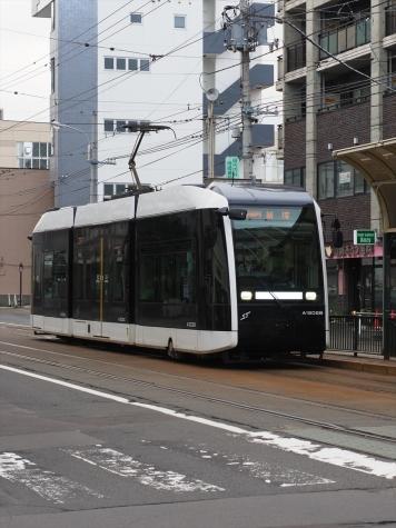 札幌市電 A1200形電車 ポラリス【中島公園通停留所】