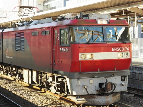 EH500-74 牽引の高速貨物B 2095レ【土浦駅】