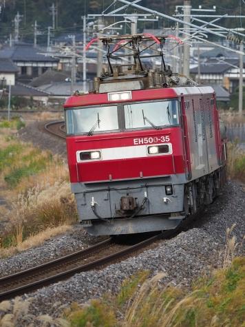 JR貨物 EH500-35 牽引の安中貨物