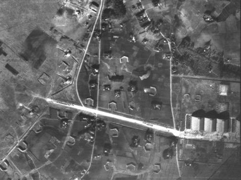 旧中島飛行機工場と誘導路【1947年 米軍撮影】