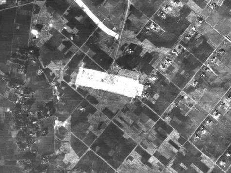 ツェッペリン伯号格納庫跡【1947年 米軍撮影】