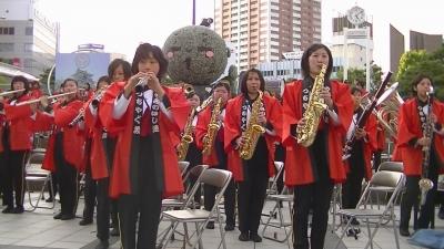 【浜松海の星高校 吹奏楽部】 法被 取り出し 「やらまいか合唱」1 (5)