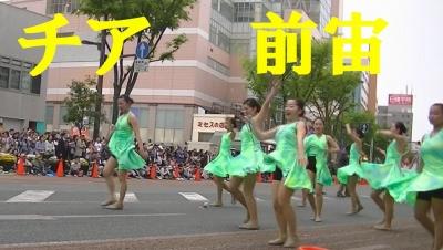 【浜松まつり】 チア 前方宙返り 「PL MBA Baton Band 」2) (4)