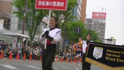 【浜松まつり】 プラ 持ち チア かわいいです 「浜松海の星高校吹奏楽部 」3 (2)
