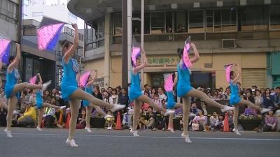 【浜松まつり】 吹奏楽パレード「チア フラッグ落としたょ」 3 (1)
