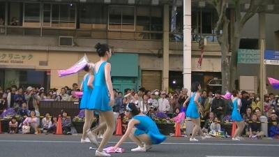 【浜松まつり】 吹奏楽パレード「チア フラッグ落としたょ」 3 (3)
