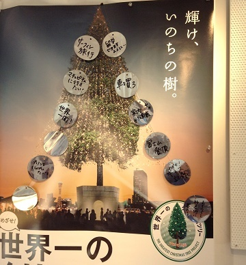 世界一のクリスマスツリーNHKニュースで放送