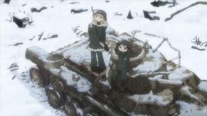 戦車の残骸