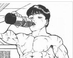 コーラ一気飲みのバキ