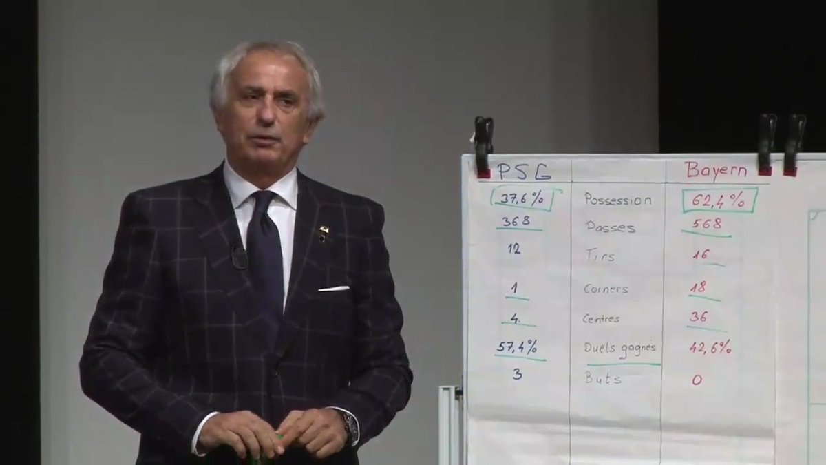 HALILHODZIC IS EXPLAINING PSG V BAYERN TO THE JAPANESE PRESS