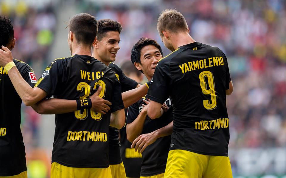 GOAL (Shinji Kagawa) FC Augsburg 1 - 2 Dortmund