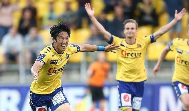 morioka goal and assist against Royal Antwerp