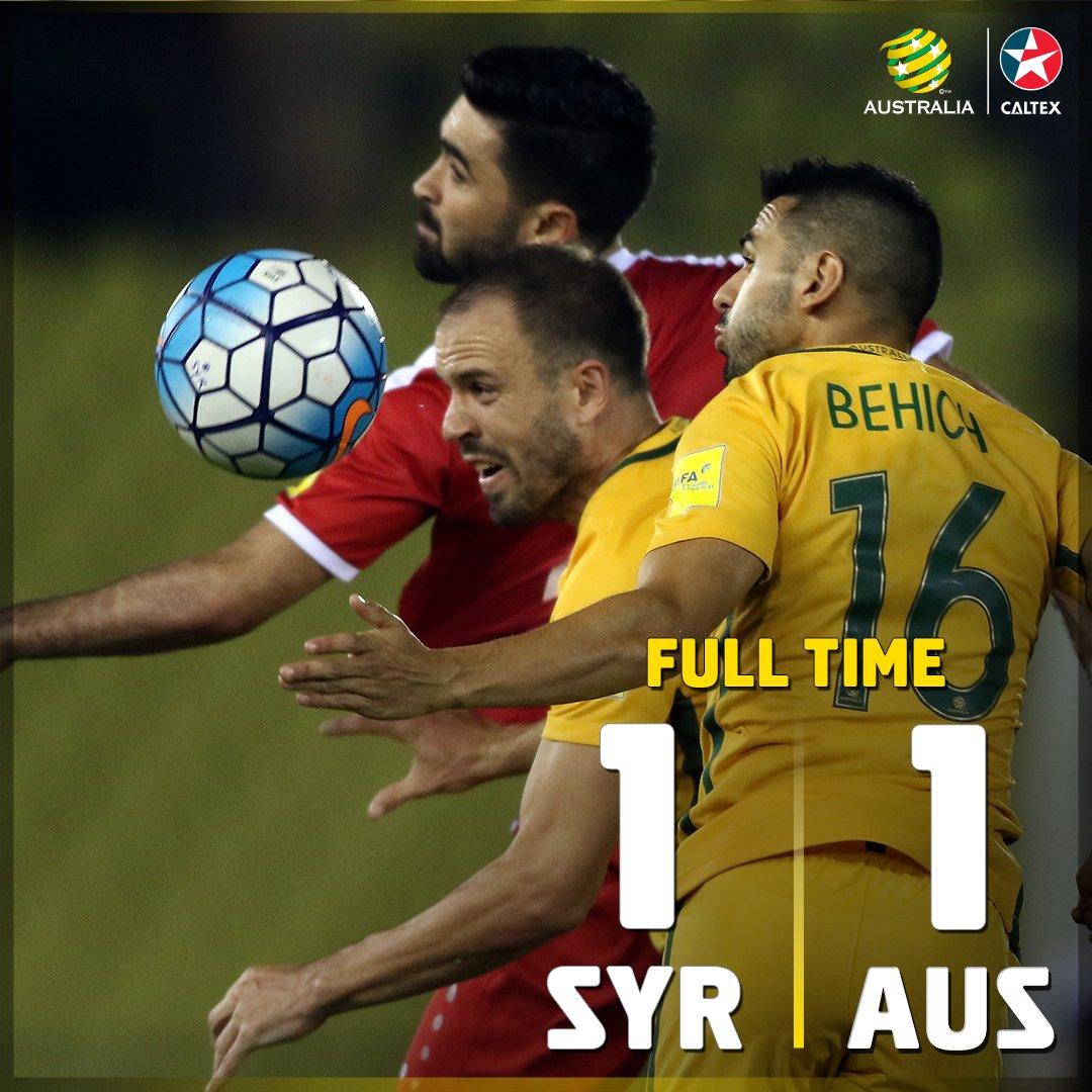 SYRvAUS 1_1 asia playoff #GoSocceroos