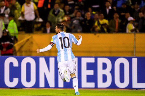 Lionel Messi's Hattrick goal for Argentina vs Ecuador