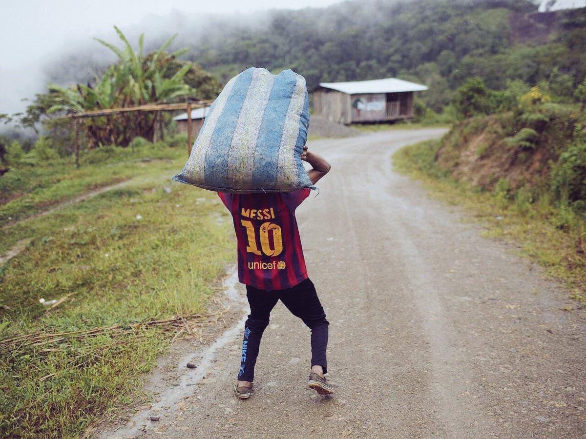 Messi llevando la Argentina al mundial
