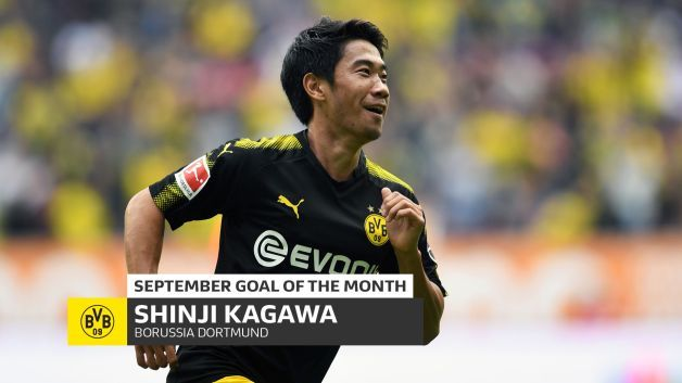 Shinji Kagawa's record-breaking chip voted September Goal of the Month
