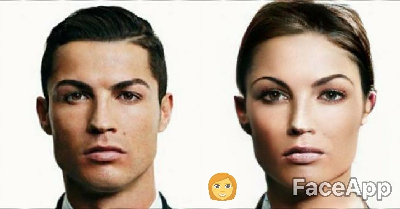 Cristiano Ronaldo FaceApp