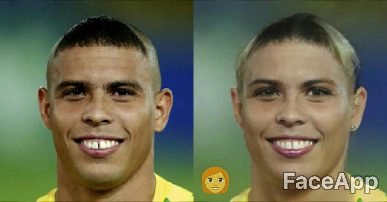 Ronaldo Luís Nazário FaceApp
