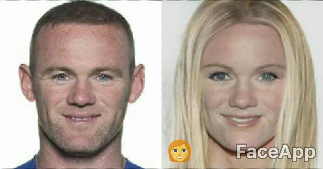 Wayne Rooney FaceApp